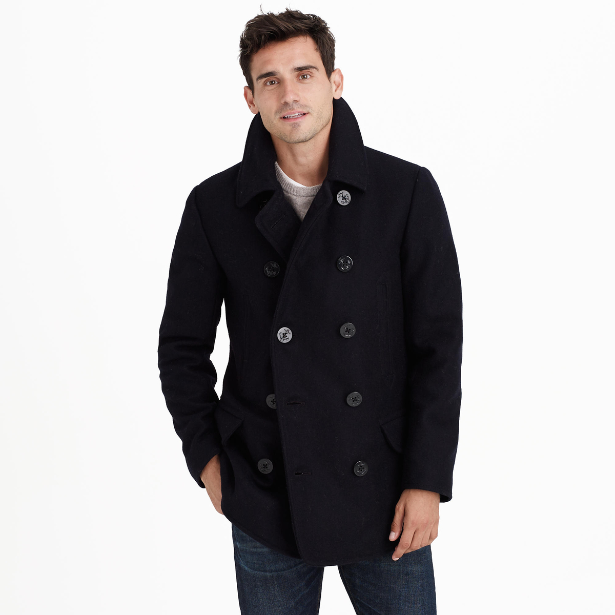 Jcrew Mens Peacoat