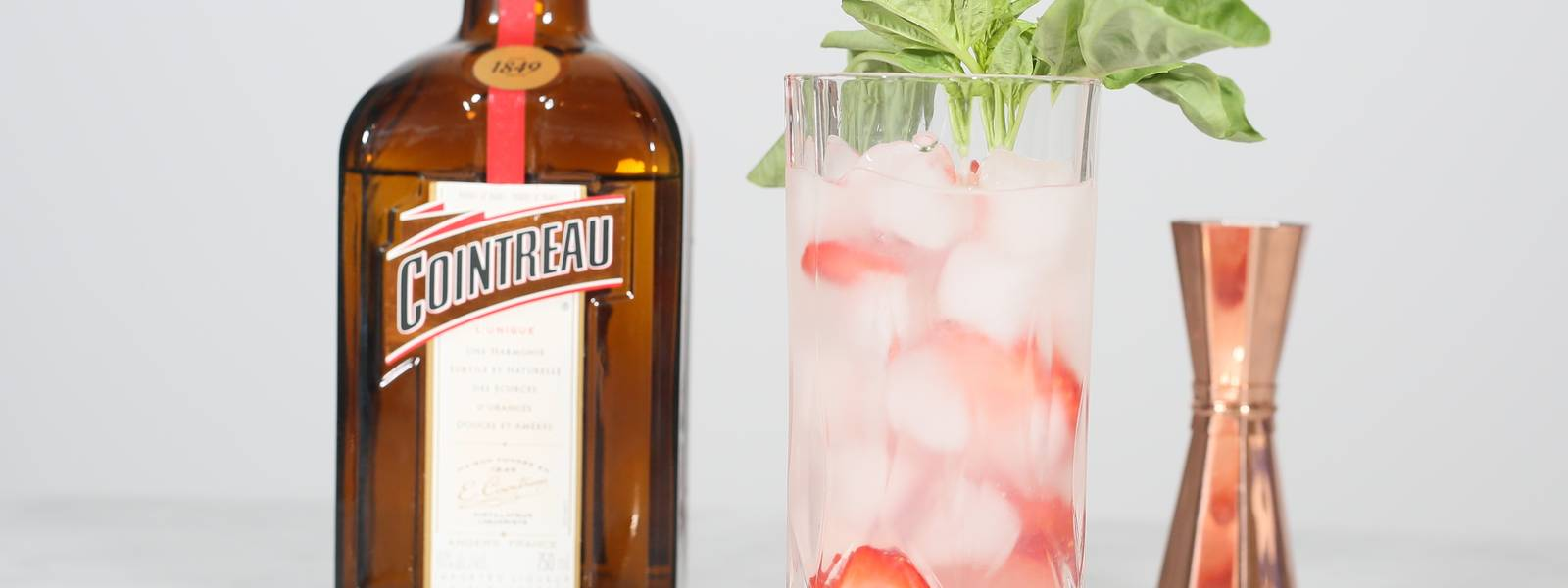 Strawberry Basil Rickey